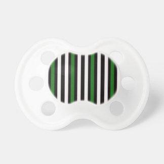 Tétine Noir et vert avec le blanc