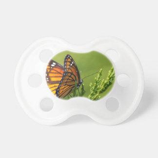 Tétine Papillon de monarque orange et noir