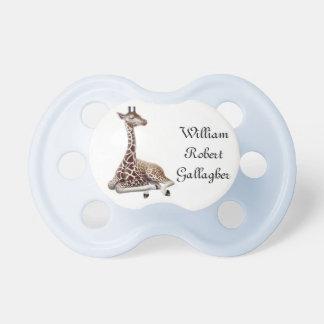 Tétine personnalisable de girafe de bébé