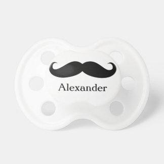 Tétine personnalisée drôle de moustache