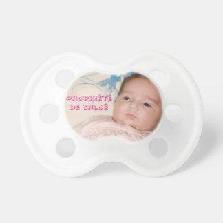 Tétine personnalisée - Fille - 0-6 mois
