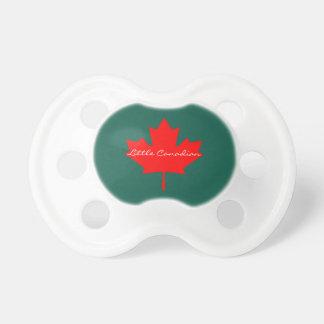 Tétine Peu de soother canadien de bébé de feuille