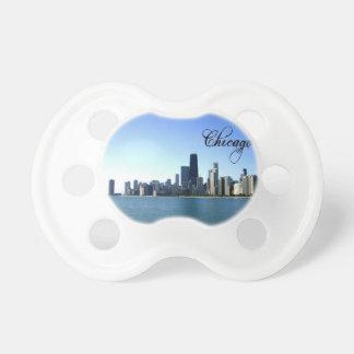 Tétine Photo d'horizon de Chicago à travers du lac Michig