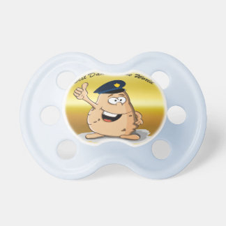 Tétine Pomme de terre de policier avec un casquette bleu