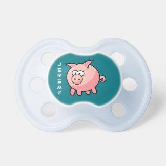 Tétine Porc rose mignon personnalisé