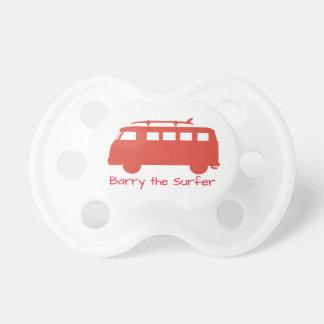 Tétine Rétro illustration d'autobus de surf