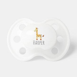 Tétine Safari unisexe mignon de girafe d'aquarelle avec