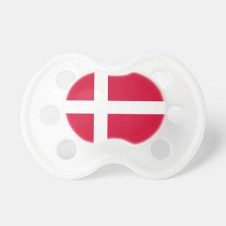 Tétine Symbole de drapeau de pays du Danemark longtemps