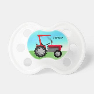 Tétine Tracteur rouge mignon de ferme