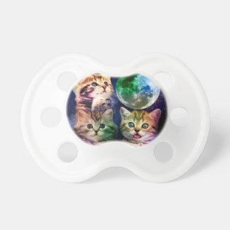 Tétine Trois chats - lune de chat - visage de chat