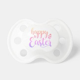 Tétine Typographie multicolore heureuse d'oeuf de Pâques