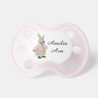 """Tétine vintage rose mignonne de """"Amelia"""" de lapin"""