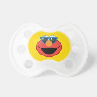 Tétine Visage de sourire d'Elmo avec des lunettes de
