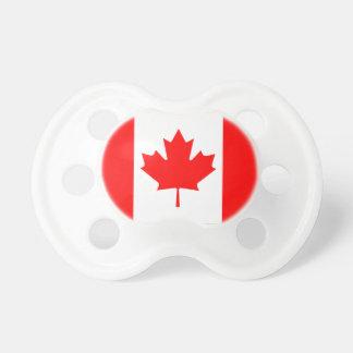 Tétines de bébé de drapeau du Canada
