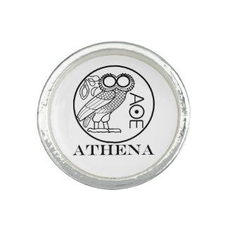 Tetradrachm du hibou d'Athéna (police de graveurs) Bagues