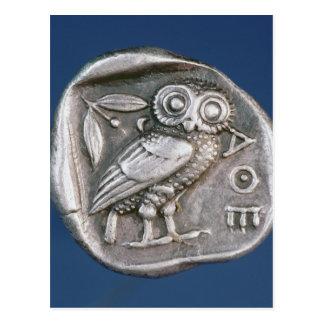 Tetradrachma athénien carte postale