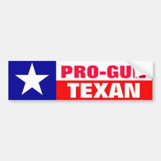 Texan de Pro-Arme à feu Autocollant Pour Voiture