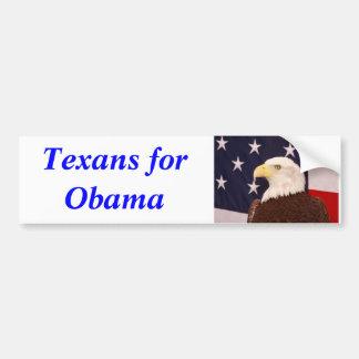 Texans pour l'adhésif pour pare-chocs 2012 d'Obama Autocollant Pour Voiture