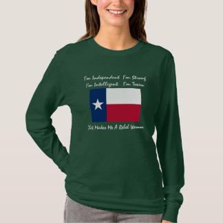 Texas-drapeau, je suis indépendant je suis t-shirt