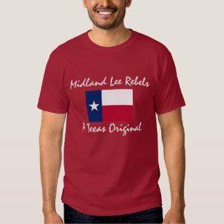 Texas-drapeau, rebelles intérieurs de Lee, un T-shirt