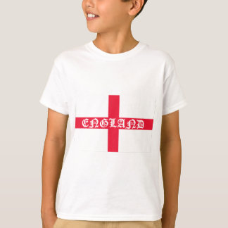 Texte anglais de blanc de drapeau t-shirt
