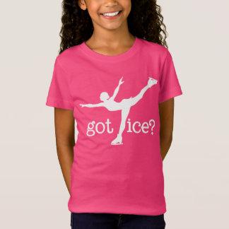 Texte blanc de patinage artistique avec le T-Shirt