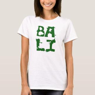 Texte blanc de vert de T-shirt de Bali pour la