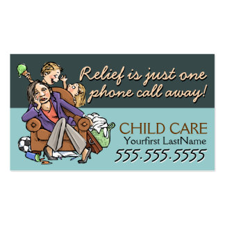 Texte/couleur de Childcare.Babysitting.Custom Carte De Visite Standard
