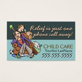 Texte/couleur de Childcare.Babysitting.Custom Cartes De Visite
