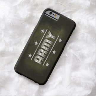 Texte d'armée en métal coque iPhone 6 barely there