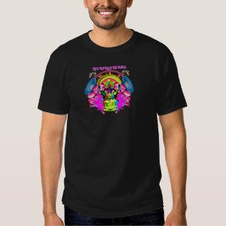 Texte de chemise de la boule du blaireau un plus t-shirts