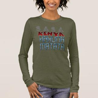 Texte de conception de Sasa Kenya Nice beau Hakuna T-shirt À Manches Longues