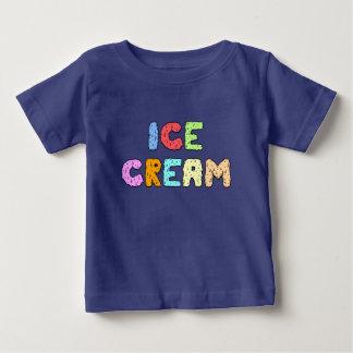 Texte de crème glacée - obscurité t-shirt pour bébé