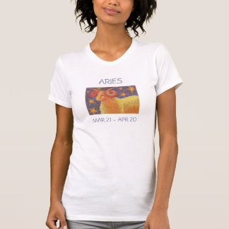 Texte de dames de T-shirt de Bélier de zodiaque
