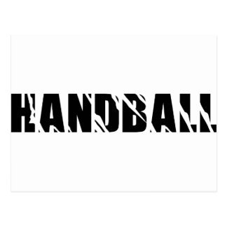 texte de handball carte postale