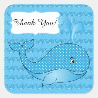 Texte de la baleine | do-it-yourself de bébé sticker carré