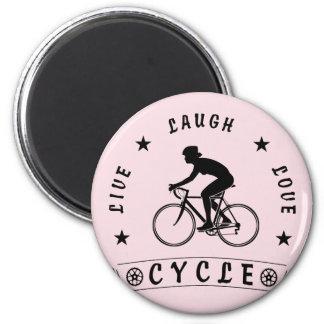 Texte de Live Laugh Love Cycle de Madame (noir) Aimant