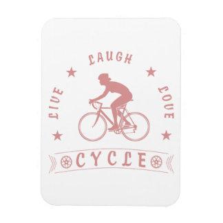 Texte de Live Laugh Love Cycle de Madame (rose) Magnet Flexible