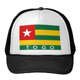 texte de nom de symbole de drapeau de pays du Togo Casquette Trucker