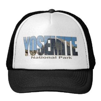 Texte de parc national de Yosemite avec demi de dô Casquettes De Camionneur