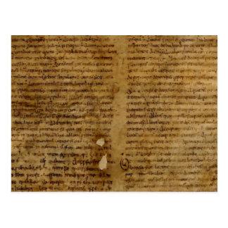 Texte de parchemin avec l'écriture antique, vieux