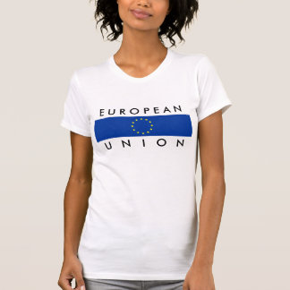 texte de symbole de nation de drapeau de l'Europe T-shirt