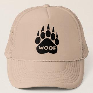 """Texte de """"Woof"""" de casquette de gay pride de patte"""
