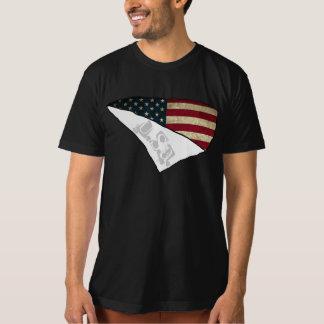 texte déchiré Etats-Unis de drapeau américain T-shirt