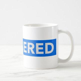 Texte déclenché inversé mug