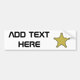 texte d'étoile de shérif ici autocollant pour voiture