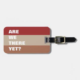 Texte drôle rayé de palette de couleurs bronzage étiquette à bagage