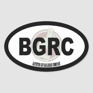 Texte et logo ovales de Railroad Company de Sticker Ovale