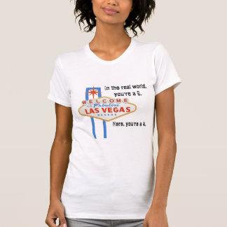 Texte fabuleux de noir de T-shirt de Las Vegas