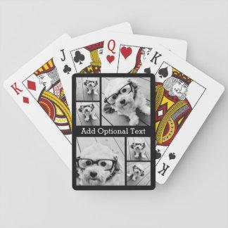 Texte facultatif de collage de 6 photos -- PEUT Jeux De Cartes